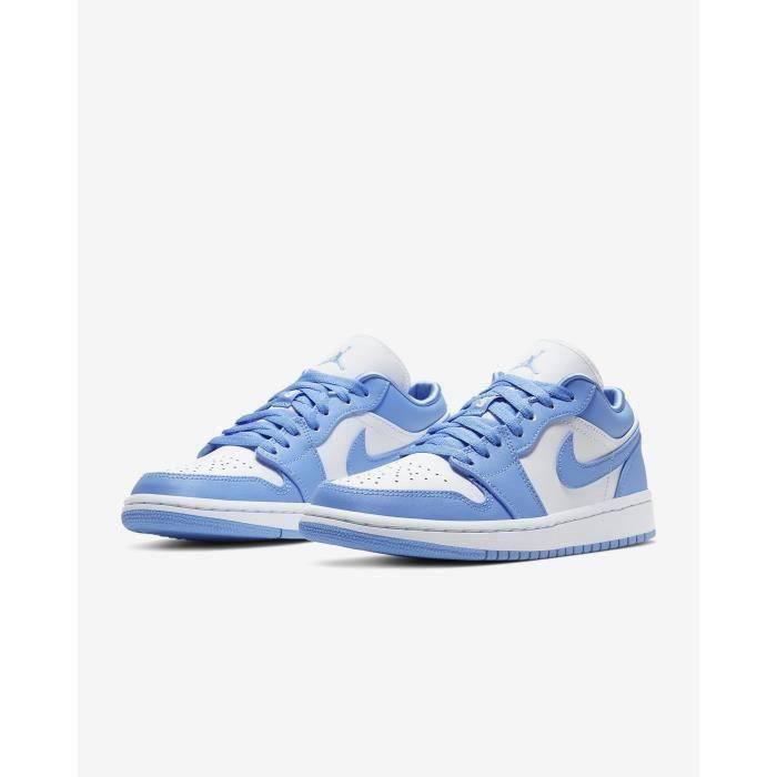 Basket NIKE Air Jordan 1 Low Bleu Chaussures de Jordan One AJ 1 ...