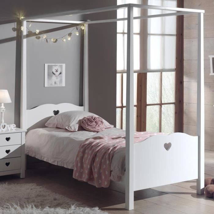 paris prix lit baldaquin enfant amori blanc achat vente lit complet paris prix lit. Black Bedroom Furniture Sets. Home Design Ideas