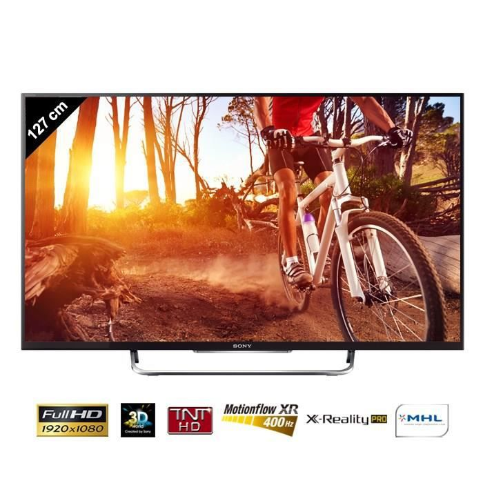sony bravia kdl50w805 tv connect 3d 127 cm t l viseur. Black Bedroom Furniture Sets. Home Design Ideas
