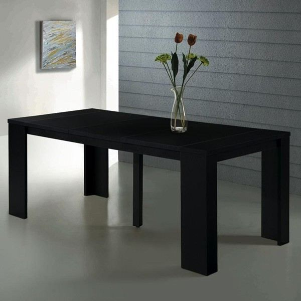 Table console extensible switch noir mat achat vente console table consol - Cdiscount console extensible ...