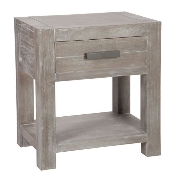 Table de chevet 1 tiroir leon l 40 x l 40 x h 51 cm - Une table de chevet ...