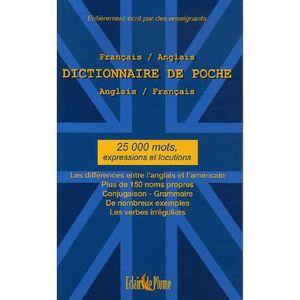 Dictionnaire Anglais Achat Vente Pas Cher