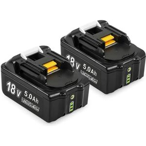 BATTERIE MACHINE OUTIL LiBatter 2pcs P108 18V 5.0Ah packs de Batteries de