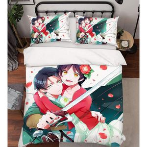 HOUSSE DE COUETTE ET TAIES 3D Attack on Titan 909 Japan Anime Game 175*200cm