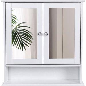 ARMOIRE DE TOILETTE Meuble salle de bain,Placard Murale Meuble , Blanc