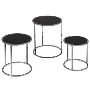 table gigogne metal achat vente table gigogne metal pas cher cdiscount. Black Bedroom Furniture Sets. Home Design Ideas