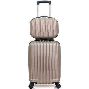 SET DE VALISES SET DE 2 VALISES VOLGA-H BEIGE