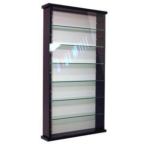 VITRINE - ARGENTIER EXHIBIT Vitrine noir 6 étagères en verre