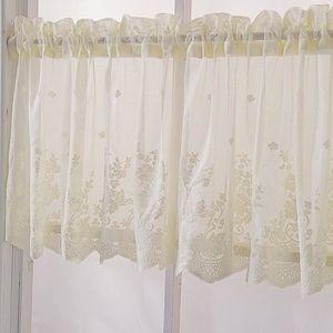 RIDEAU 130*41 Rideaux courts en dentelle, rideau brise-bi