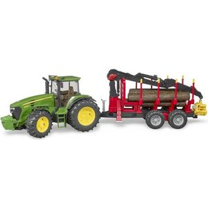 UNIVERS MINIATURE BRUDER - Tracteur JOHN DEERE 7930 avec remorque et
