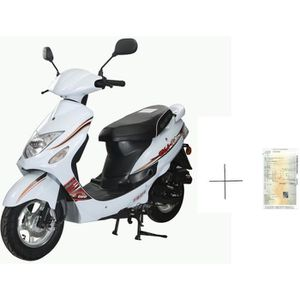 SCOOTER Scooter GTR-B 50cc 4T blanc + IMMATRICULATION