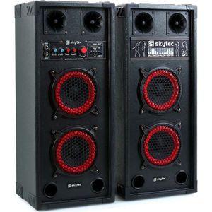 ENCEINTE ET RETOUR Skytec SPB-26 PA Pack Enceintes Amplifiées • 600W