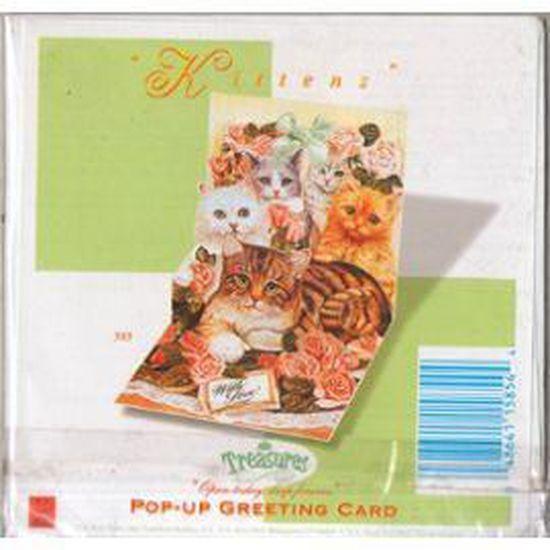 Pop-up-cartes//3//d-faltkarte animaux chat modern times carte postale s/ÜSSES chat couch/é/»