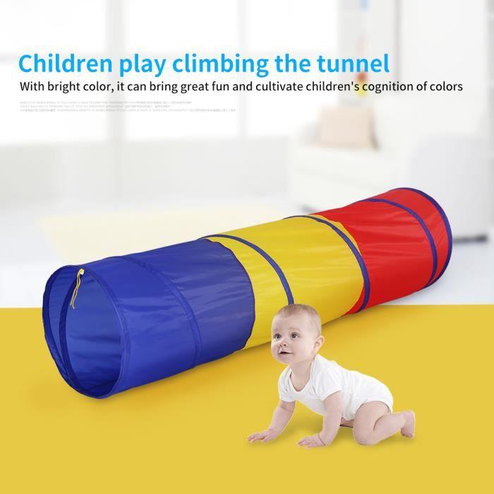 Tunnel de jeu Ramper bébé Tunnel enfants Tente 180 x 46cm, Jeu Tunnel -YAP