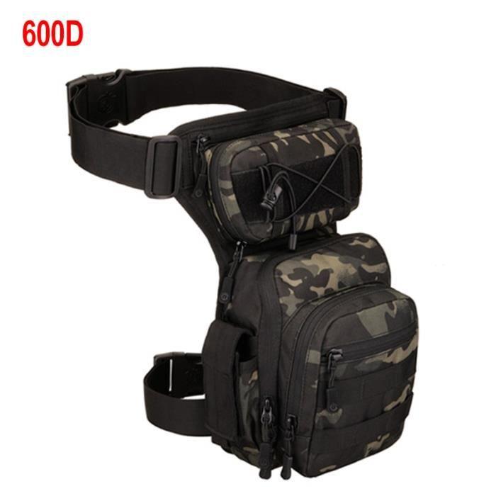 600D Black CP -XA936WA – sac de cuisse ajustable pour hommes, sacoche de ceinture utilitaire, poche de hanche ajustable pour randonn