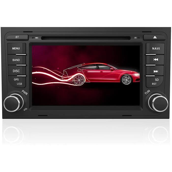 Autoradio 2 Din pour Audi A4 B6 B7-S4-RS4(20032012) Lecteur CD-DVD 7- Écran Tactile avec GPS Navigation-Commande au Volant-Appel B