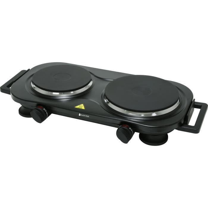 BLACKPEAR BHP 004 Plaque de cuisson - 2 feux - 2250 W - Noir