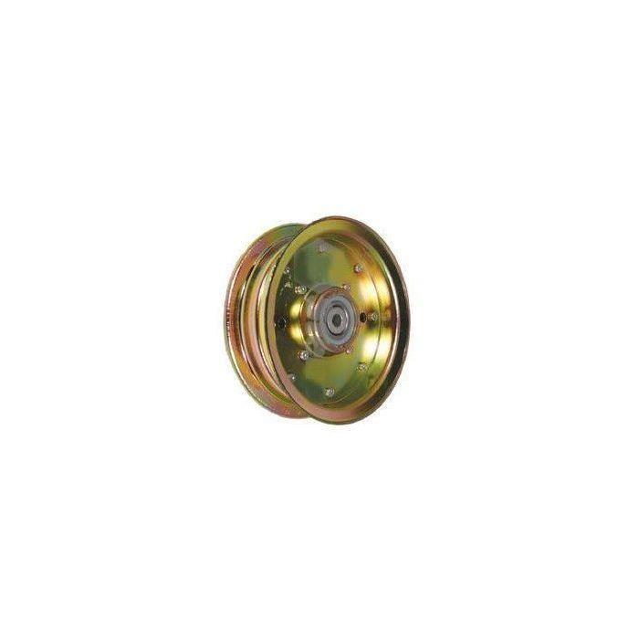 Poulie à gorge plate adaptable pour SCAG modèles 40- et 48- - H: 31,7mm, Ø: ext: 149,22mm, Ø int: 9,52mm