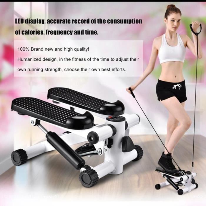 Stepper santé Twist-stepper Fitness Excercise sport Machine Accueil noir