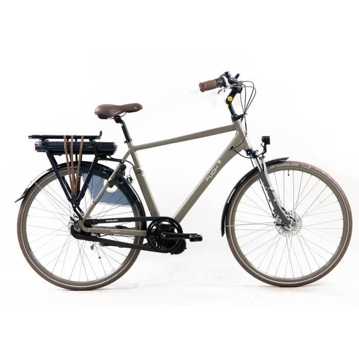 Vélo E-Ambient - Assistance électrique - Roues 28- - MINERVA - Homme - Gris