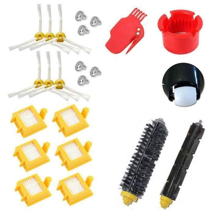MOONMINI® Kit de filtres Hepa pour roue roulante pour iRobot Roomba série 700 760 770 780 790, brosse à poils