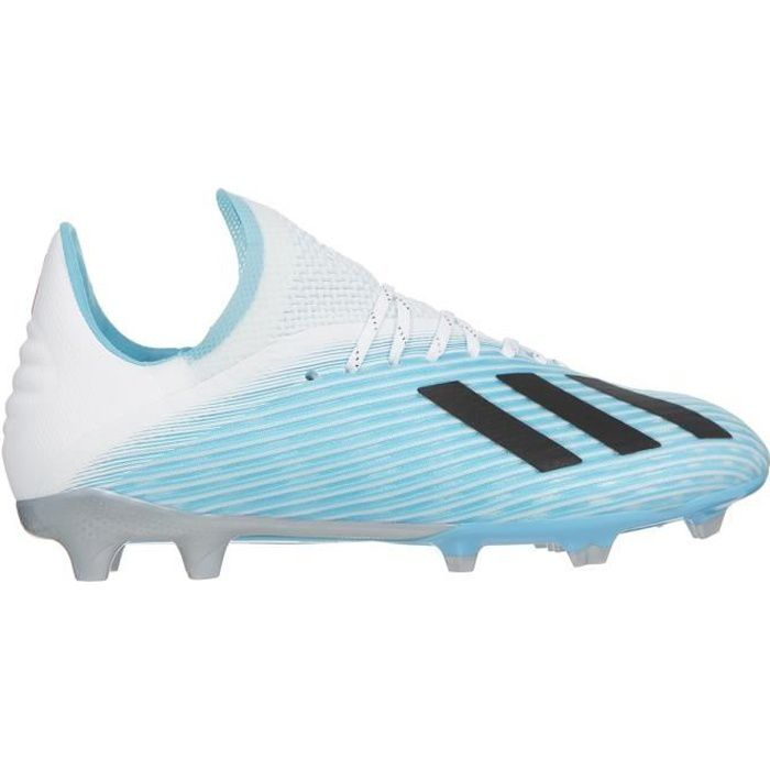 ADIDAS PERFORMANCE Chaussures de Football X 19.1 FG J - Enfant - Turquoise/Noir/Rose