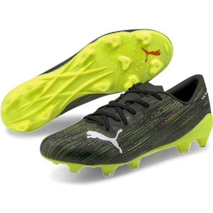Chaussures de football Puma Ultra 2.2 FG/AG - noir/blanc/jaune - 48,5