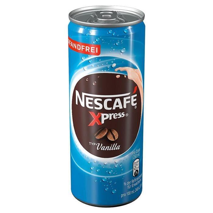 Nescafé - Nescafé Xpress Vanille 25cl (pack de 12)