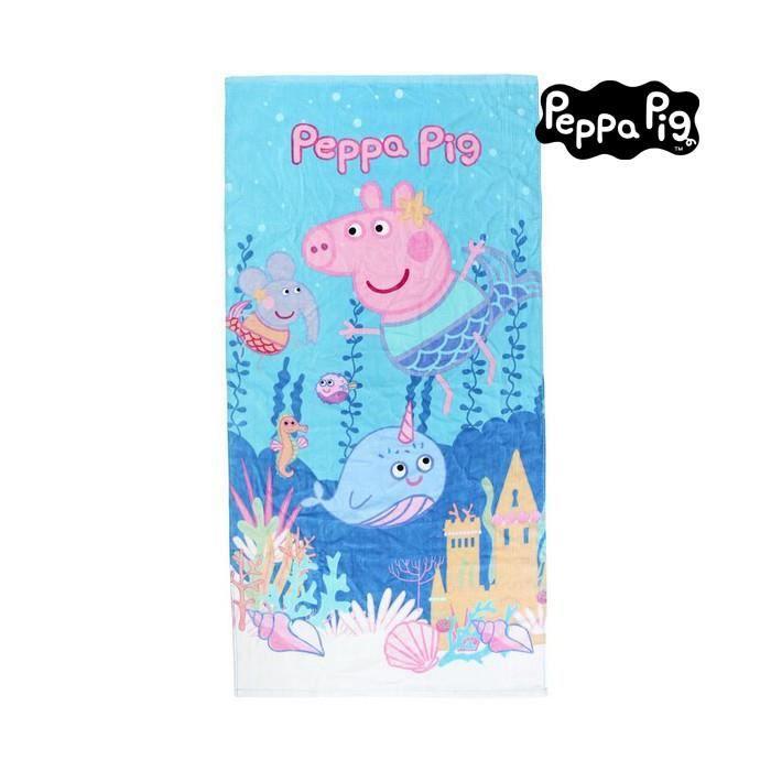 Serviettes de plage et de piscine esthetique serviette de plage peppa pig 75495 coton bleu