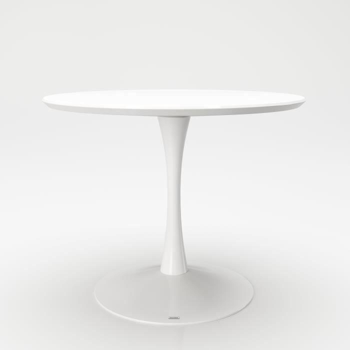 TABLE DE REPAS PAIGE : la table ronde, au style vintage des années 60, design par Phoenix Suisse, en coopération avec PLAYBOY USA