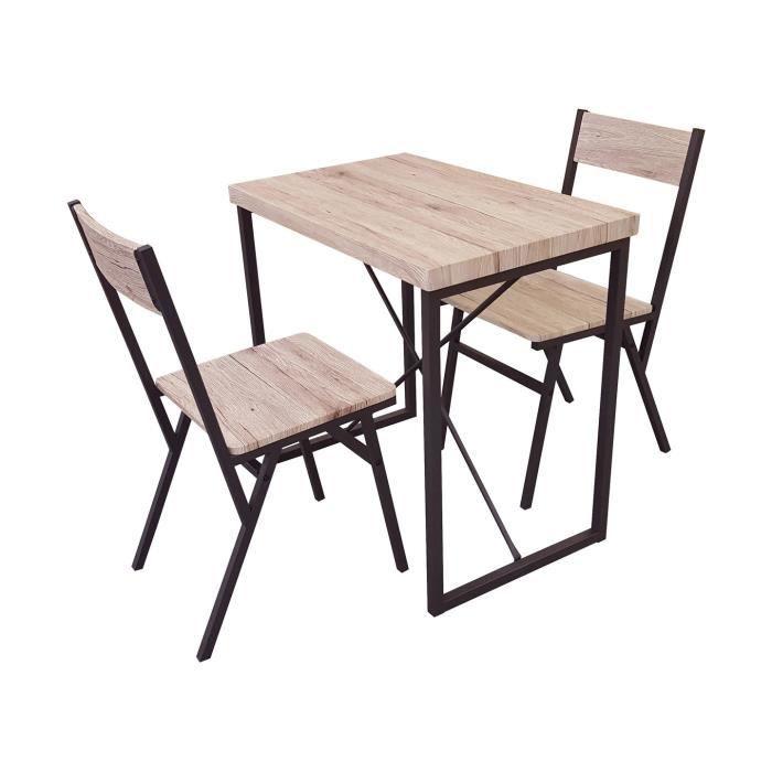 Ensemble Snack Table Et 2 Chaises Collection Loft Dock Bar