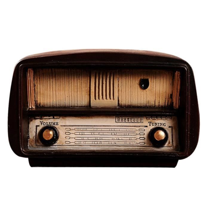 1 pc ancien Style Vintage créatif Radio modèle résine bureau affichage artisanat TAPIS DE SOL - TAPIS DE GYM - TAPIS DE YOGA