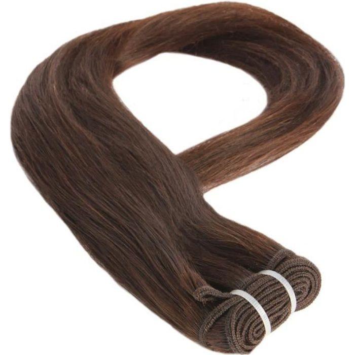 Tissage Brésilien Lisse brun 65cm 26 pouces