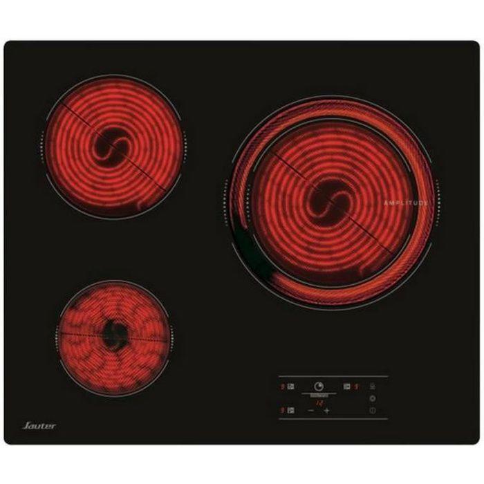 Sauter - plaque de cuisson vitrocéramique 60cm 4 feux 6100w noir - spv4530b