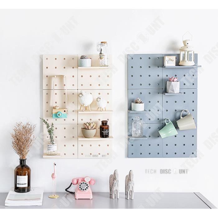 TD® étagère murale rangement enfant douche salle de bain chaussure cuisine en bois d'angle design de mur chambre livres pour salon