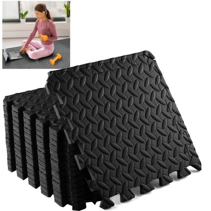 18 Dalles en Mousse 40x40 cm Musculation Sport Fitness Gymnastique
