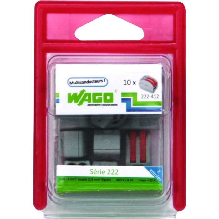 WAGO Blister de 10 bornes 2x2,5mm²