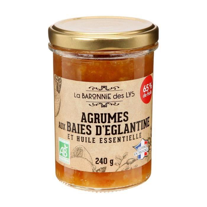 LA BARONNIE DES LYS Confiture aux agrumes et huile essentielle bio - 250 g