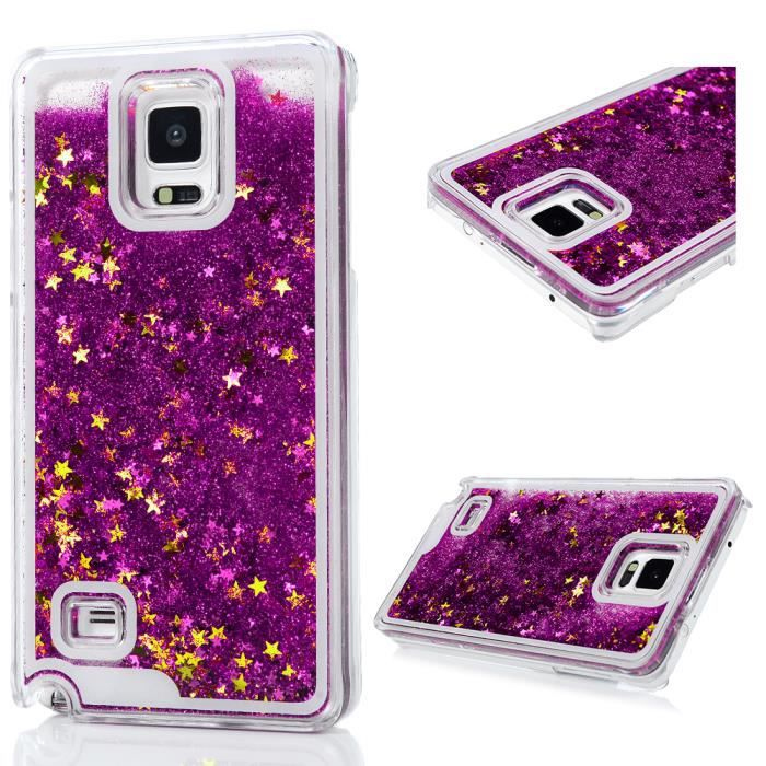 Coque Silicone Samsung Galaxy Note 4 IV Paillette Transparente ...