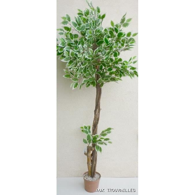 ficus artificiel en pot arbre arbuste 1 50 m achat vente fleur artificielle s ch e bois. Black Bedroom Furniture Sets. Home Design Ideas