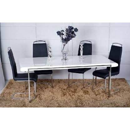 Table de s jour design laqu blanc achat vente table manger table desig - Table de sejour design ...