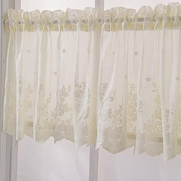 130*41 Rideaux courts en dentelle, rideau brise-bise cuisine romain,  Rideaux salon moderne, Décoration de Fenêtre chambre beige