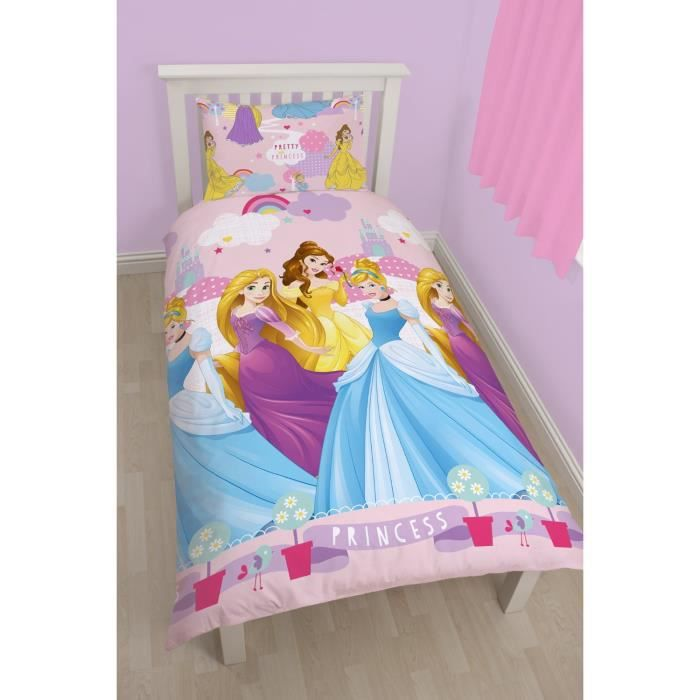 parure de lit princesse disney enchanteur achat vente. Black Bedroom Furniture Sets. Home Design Ideas