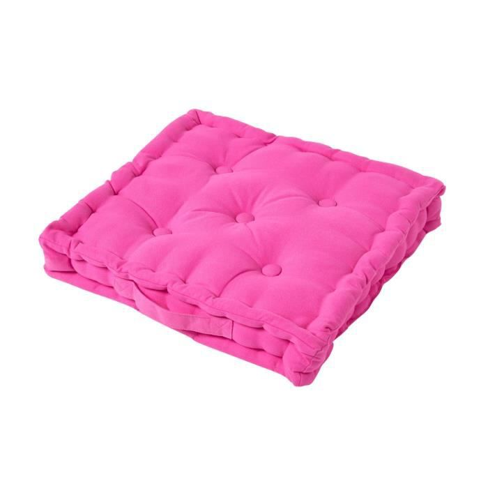 coussin de sol rose fushia 50 x 50 cm achat vente coussin cdiscount. Black Bedroom Furniture Sets. Home Design Ideas