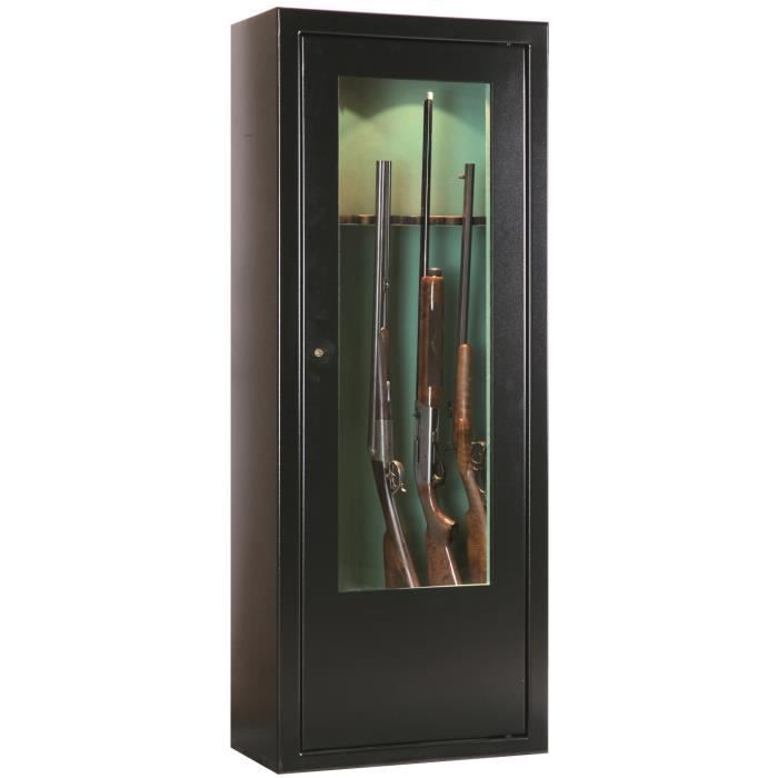 armoire forte vitrine vert armes achat vente armoire fusil cdiscount. Black Bedroom Furniture Sets. Home Design Ideas