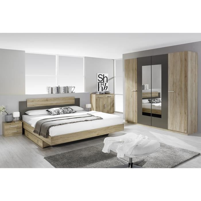 tiroir lit contemporain ch ne clair aureal achat vente tiroir de lit cdiscount. Black Bedroom Furniture Sets. Home Design Ideas