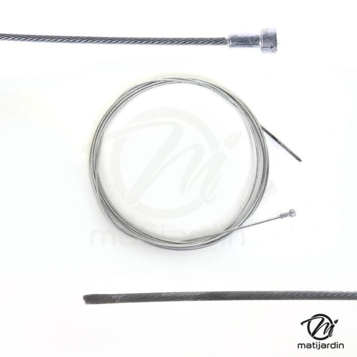 Coupe-Bordure Débroussailleuse Fil Corde Câble 3mm Câble en Acier Gris 15