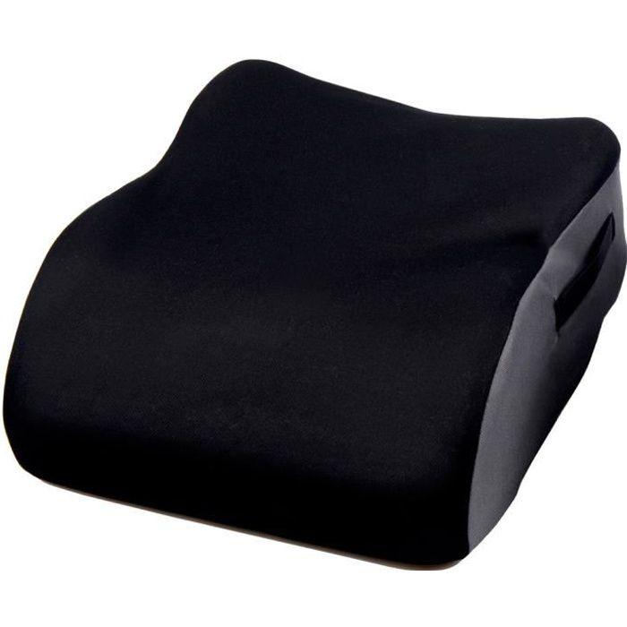 Coussin rehausseur de Voiture Monobloc si/ège conducteur /épaississant rehaussant Le si/ège Auto en Coton Pas de Dossier Coussin de si/ège de Voiture,Black