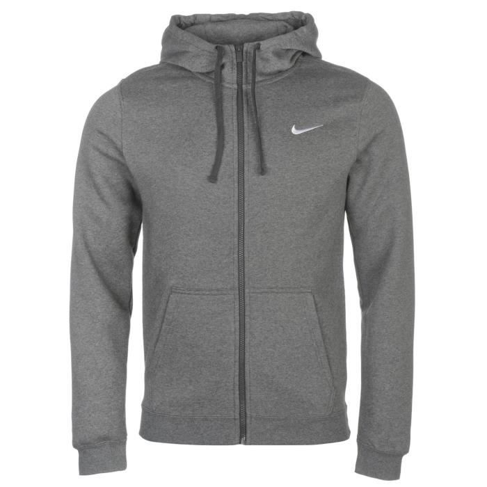 GILET SWEAT A CAPUCHE POUR HOMME NIKE Anthracite
