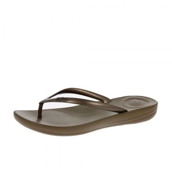 Ergonomique Achat Tongs Tong Fitflop Iqushion Bronze Vente 5xzwTPp